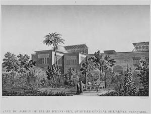 Le-KaireDescription-Vue-du-jardin-du-palais-dElfy-Bey-quartier-général-de-larmée