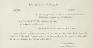 Hospice du grand Saint-Bernard dans Desaix et Bonaparte berthier1-300x155