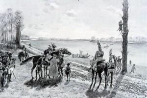 Une reconnaissance de Desaix sur les bords du Rhin près de Drusenheim, décembre 1793