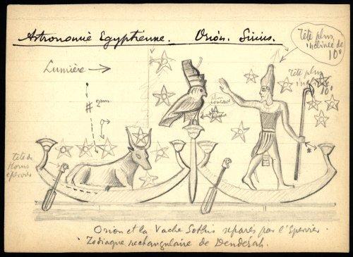 Zodiaque circulaire de Dendérah dans Desaix,  l'expédition d'Egypte Antoniadi-croquis-ZodiaquerectDenderah02