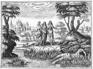 B4 Les nymphes découvrent Céladon évanoui sur les rives du Lignon