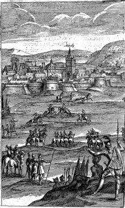 E4 Combats singuliers de  Lindamor et Polémas, sous les murs de Marcilly assiégée1633_5-3
